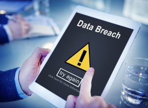 Data Breach Unsecured Warning Sign Concept